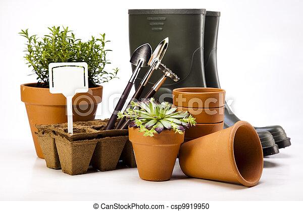 工具, 花園, 靴子 - csp9919950
