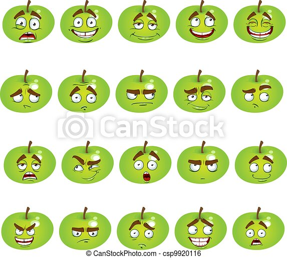 set of smiles apples - csp9920116