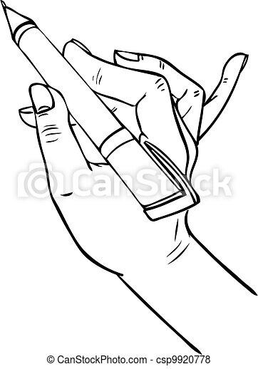 Vector of hand writing pen csp9920778 - Search Clip Art ...