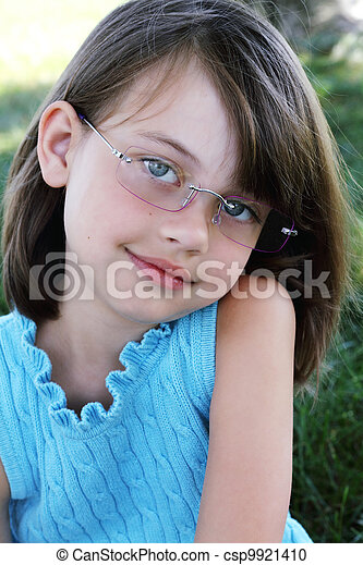 Child Wearing Glasses - csp9921410