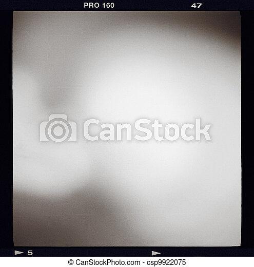Blank medium format (6x6) film frame - csp9922075