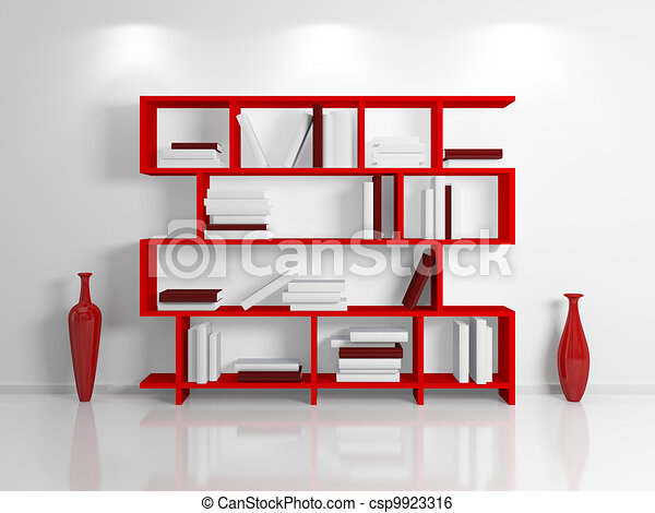stock illustration von modern b cherregal modern. Black Bedroom Furniture Sets. Home Design Ideas