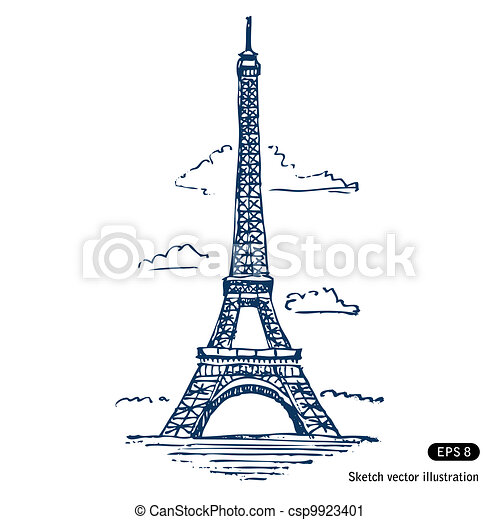 Eiffel tower in Paris - csp9923401