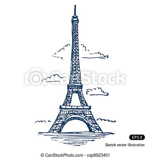 Eiffel tower in Paris - csp9923401