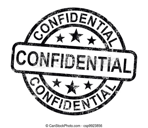 Confidential Stamp Shows Private Correspondence Or Documents - csp9923856