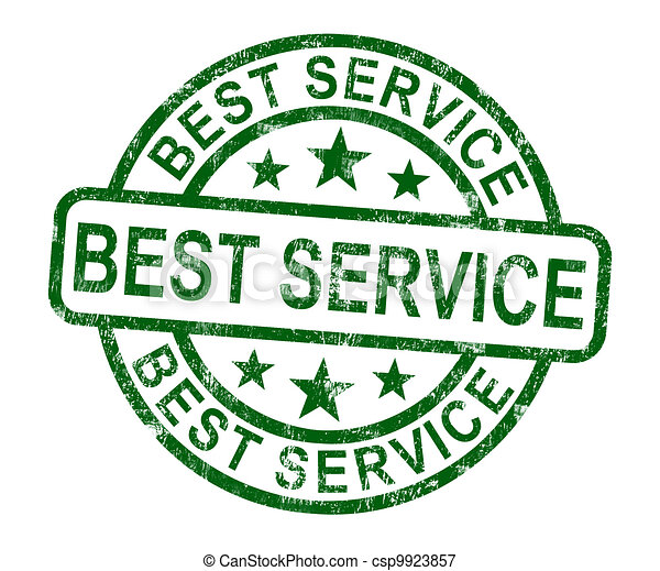 Best Service Stamp Shows Top Customer Assistance - csp9923857