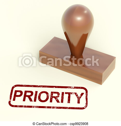 Stock Illustration - Priority Rubber Stamp Shows Urgent Rush Delivery    Rush Delivery Stamp
