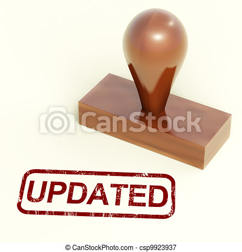 Updated Stamp Shows Improvement Upgrading Or Updating  - csp9923937