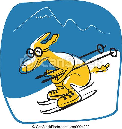 Skiing Dog - csp9924000