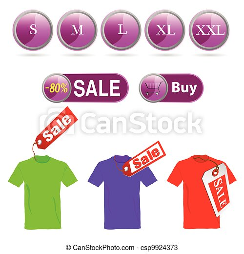 selling off t-shirt and illustration sizes - csp9924373