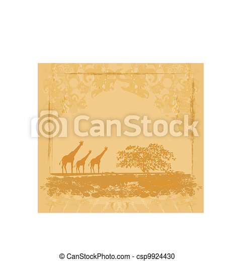 African fauna and flora  - csp9924430