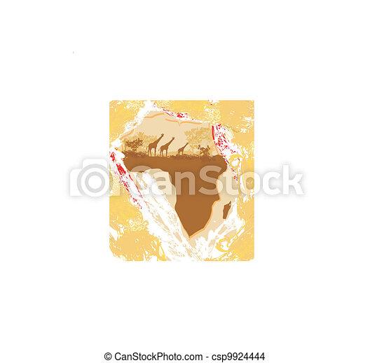 African fauna and flora  - csp9924444