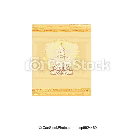 Artistic Buddhism Pattern - csp9924469