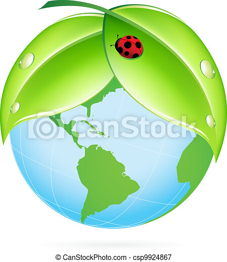 Green Earth Icon - csp9924867