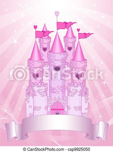 Pink Castle place card - csp9925050