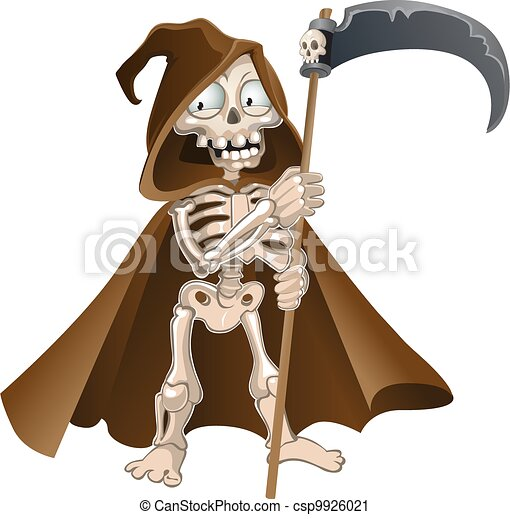 Funny Halloween death  - csp9926021