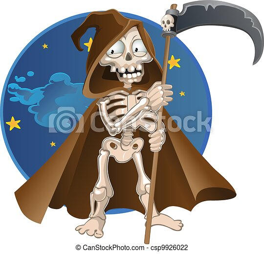 death on a color background - csp9926022