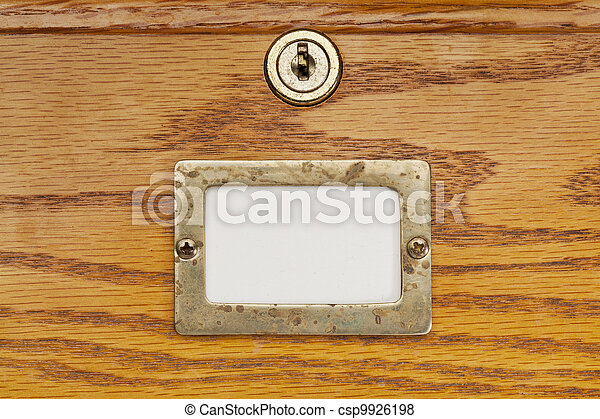 blank label of file cabinet drawer - csp9926198