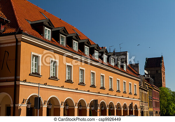 City center of Warsaw, Poland - csp9926449
