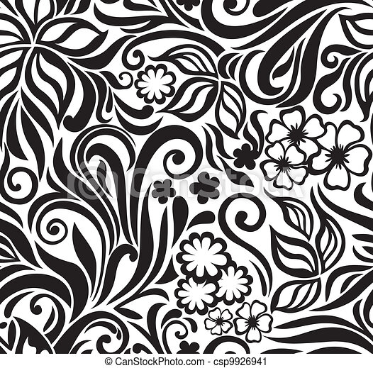 Excellent seamless floral background - csp9926941