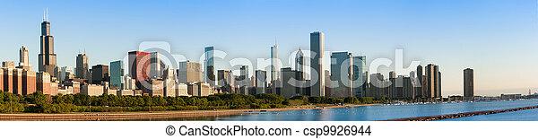 Chicago Skyline at Sunrise - csp9926944