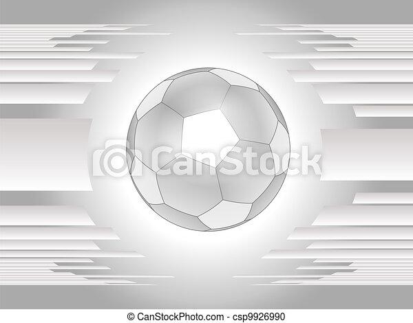 Abstract gray soccer ball backgroun - csp9926990