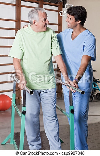 Senior Man having ambulatory therapy - csp9927348