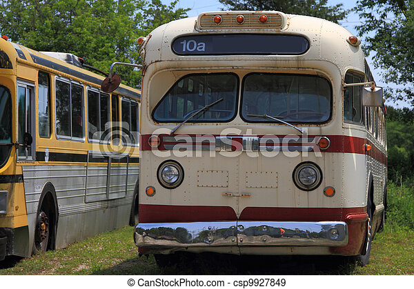 Picture of old (vintage) model used before years bus for