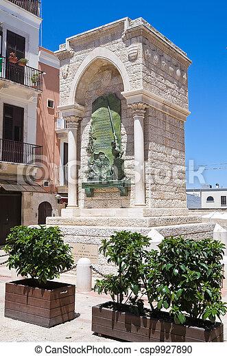 Monument to the Challenge in Barletta. Puglia. Italy. - csp9927890