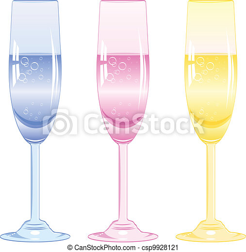 glasses of fizzy drink - csp9928121