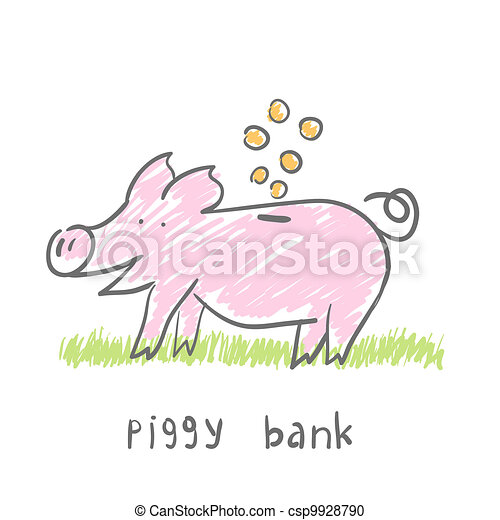 Piggy Bank.  illustration. The concept. - csp9928790