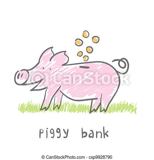 Piggy Bank.  illustration. The concept. - csp9928790