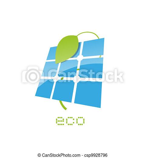 solar panel sign - csp9928796