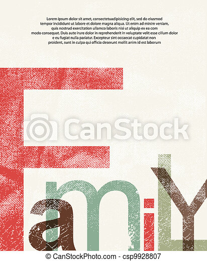 Old family print background - csp9928807