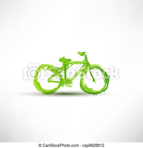 Bicycle painted with a brush - csp9928812