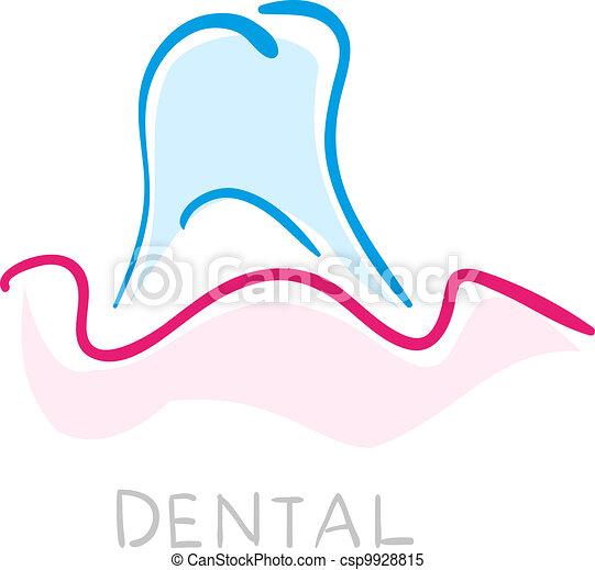 Dental icon. Illustration of teeth as icon - csp9928815