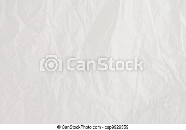 sheet of wrinkled paper - csp9929359