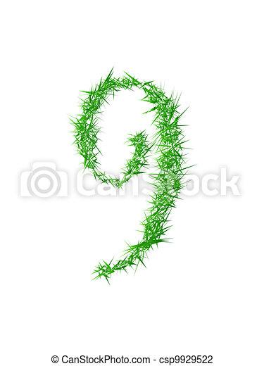 Number 9, grass texture - csp9929522