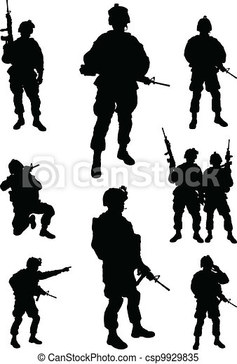 Army soldiers - csp9929835