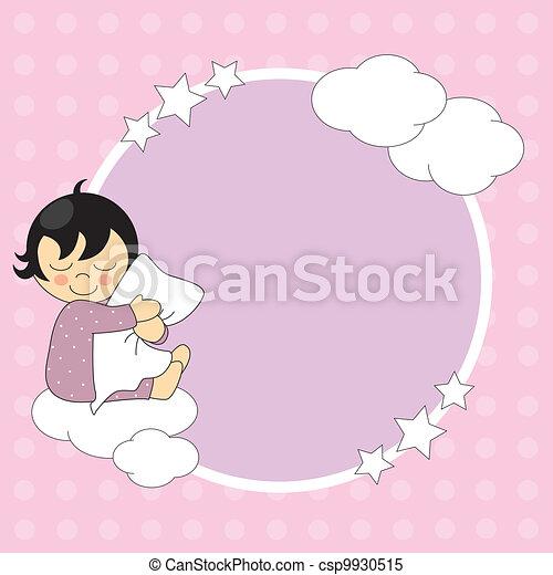 Frame baby girl - csp9930515