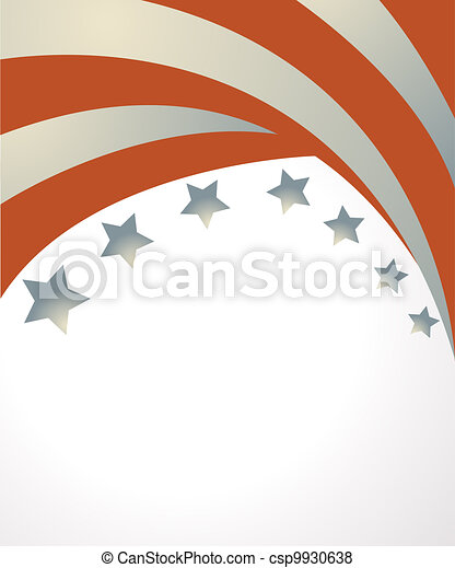 USA flag in style vector  - csp9930638