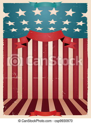 Fourth Of July - American background - csp9930970
