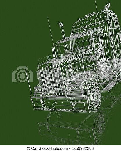 3d automobile - csp9932288