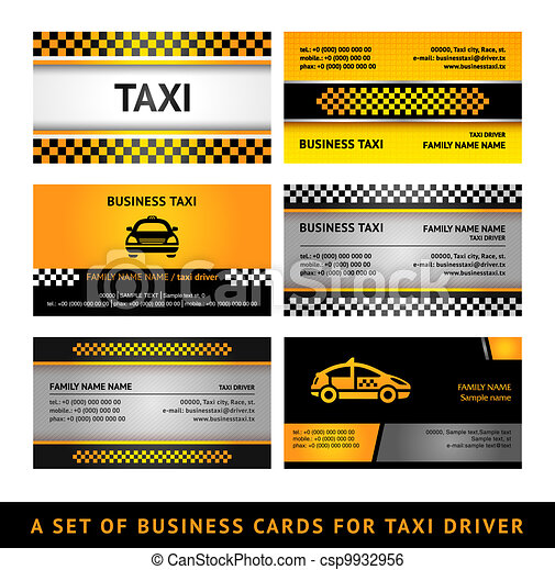 Business card taxi - fourth set - csp9932956