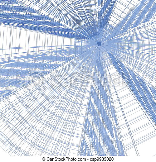 abstract modern architecture - csp9933020