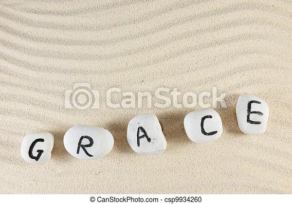 Grace word - csp9934260