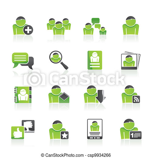 Social Media and Network icons - csp9934266