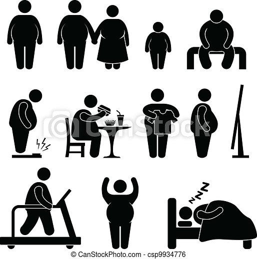 Fat Man Obesity Overweight - csp9934776