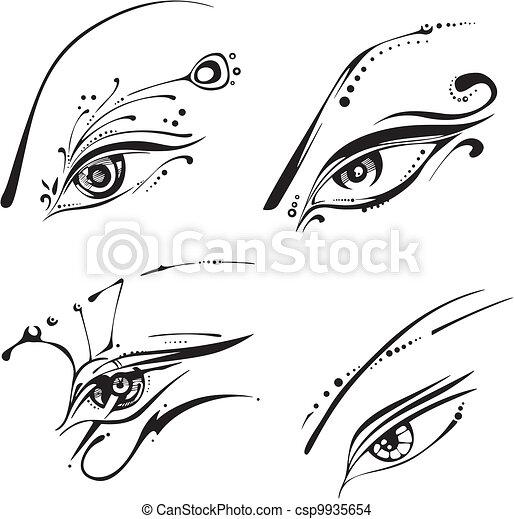 Stylized eyes - csp9935654