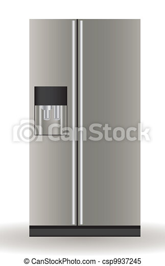 Illustration of a refrigerator - csp9937245